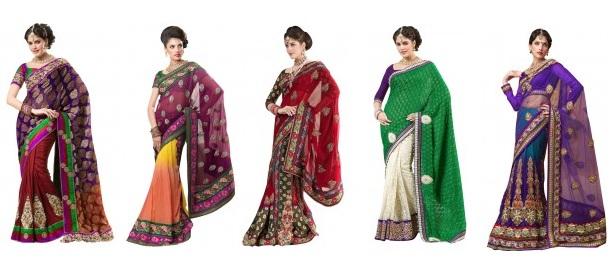 5 different varieties of Sarees for Durga Pooja