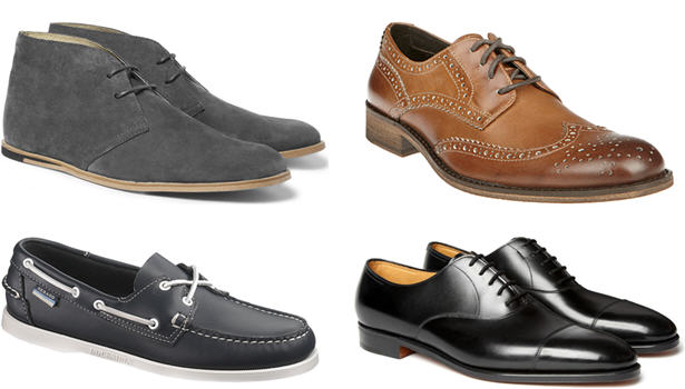5 different Shoes for men