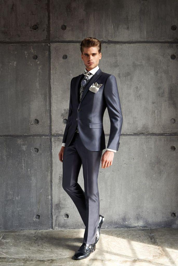 Trendy Armani Suit for winter wedding