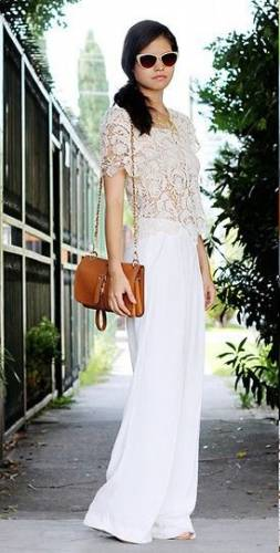 Lace Top with Palazzo