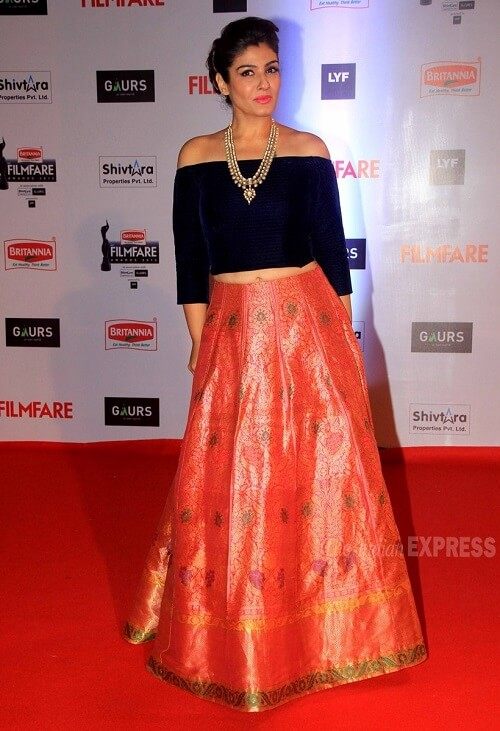 Raveena Tandon in 2016 Filmfare Awards
