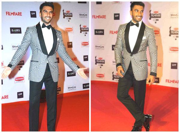 Ranveer Singh in Filmfare 2015 Awards