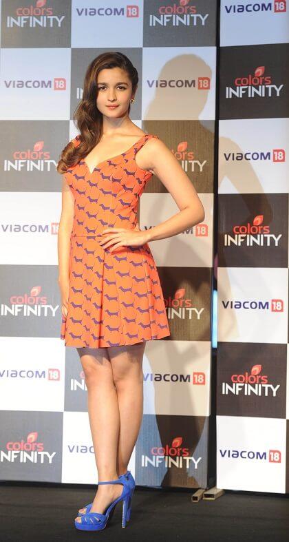 Alia Bhatt in Printed Short Dresses