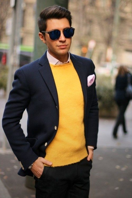 Layering with a yellow Tshirt