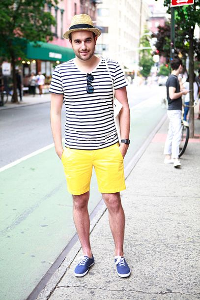 Street style with yellow for men