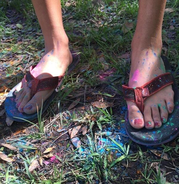 Flip Flops for Holi