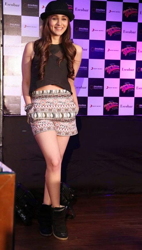 Alia Bhatt in Crop Top with Hot Pants