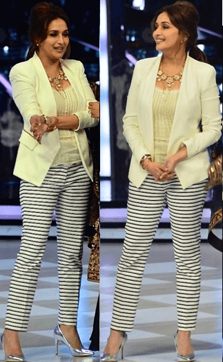 Lemon Green Jacket and horizontal stripes Pant