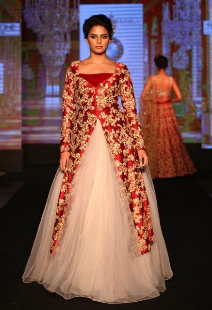 Gowns with split long kurta