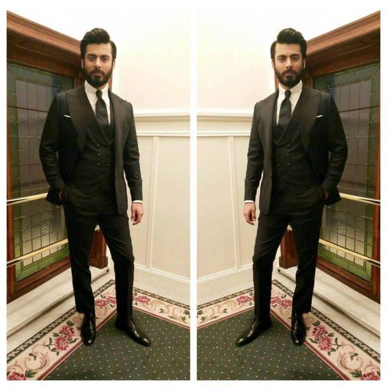 Fawad Khan in Black
